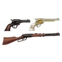 Beistle 54385 3-Pack Western Weapon Cutouts, 17-1/2-Inch-36-Inch