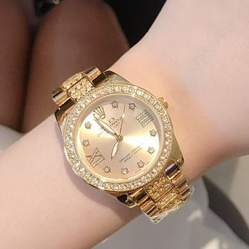 Rolex Fashion Men's and Women's Personality Diamond-studded Casual Business Watche