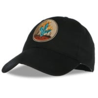 Black Cactus Embroidered Cotton Hat Outdoor Baseball Cap