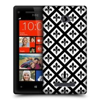 Head Case Designs Saint Black and White Pattern Protective Snap-on Hard Back Case Cover for HTC Windows Phone 8X