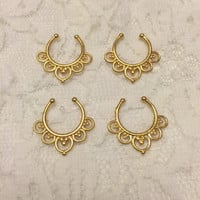 Aurora Fake Septum Ring in Gold