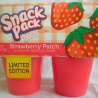 Snack Pack Pudding Limited Edition Strawberry Patch 4 -3.25 Oz. Cups (Pack of 3)