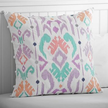 Ikat Embroidered Euro