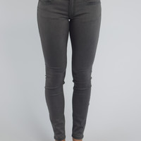 Rose Royce Skinny Jean -Rubberband Stretch {Grey}