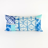 Patchwork Shibori Pillow | Brit + Co. Shop - Creative products from makers you'll love.