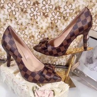 Louis Vuitton Woman Fashion High-heeled Shoes