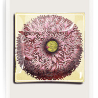 Purple Poppy Decoupage Glass Tray