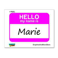 Marie Hello My Name Is Sticker