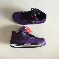 Air Jordan 4 Retro Purple Men Sneakers