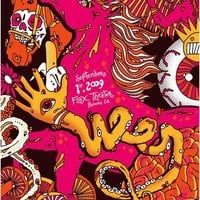 Ween Silk Screen Stallion Boognish Psychedelic Mushroom Party Trip Southern California Poster - Fox Theater - Etsy