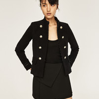 MILITARY BLAZER WITH GOLDEN BUTTONS DETAILS