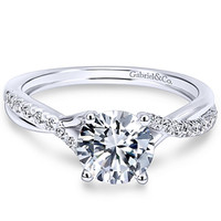 "Gabriel ""Leigh"" Twist Split Shank Diamond Engagement Ring"