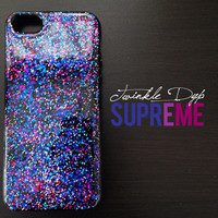 SUPREME - iPhone case, glitter case for iPhone4/4S, iPhone5/5S
