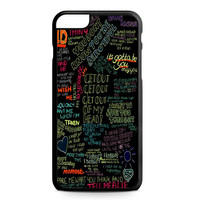 one direction song iPhone 6 Plus Case