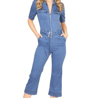 Cherie Denim Jumpsuit