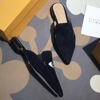Stuart Weitzman Women Fashion Simple Casual Slipper Mules  Shoes