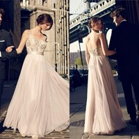 Vintage Prom Dresses 2015 Sheer Scoop Neck Sleeveless Lace Chiffon Floor Length Evening Party Gowns Vestidos De Festa_HZ-in Prom Dresses from Weddings & Events on Aliexpress.com | Alibaba Group
