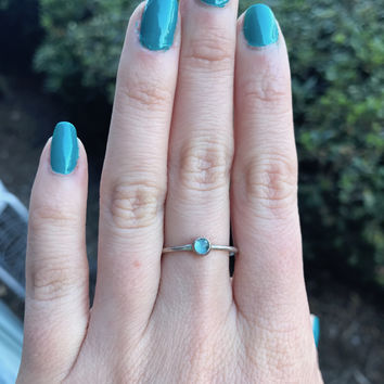 Genuine Apatite Stacking Ring - Ready to Ship - Size 8