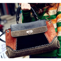 Women Leather Handbag Shoulder Purse Satchel Messenger Crossbody Bag Hit Color