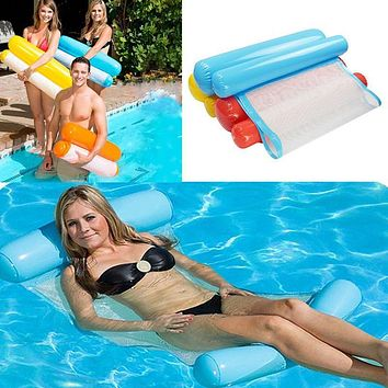 Water Hammock Single People Increase Inflatable Air Mattress Beach Lounger Floating Outdoor Foldable Sleeping Bed Chair