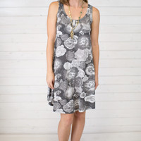 Greyscale Floral Dress