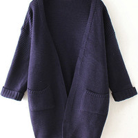 Black Pocket Detailed Cardigan