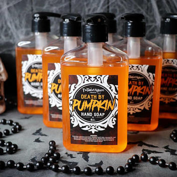 8 oz Death by Pumpkin  Hand Soap | Hand Soap | Spiced Pumpkin | Soap | Liquid Soap | Horror | Horror Soap