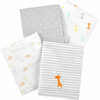 Child of Mine by Carter's Giraffe Family 4-Pack Flannel Receiving Blankets - Walmart.com