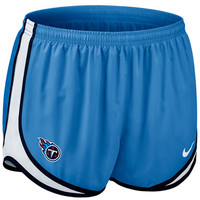 Nike Tennessee Titans Women's Tempo Performance Running Shorts - Light Blue