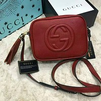 Gucci classic simple big GG pattern fashion ladies shoulder messenger bag