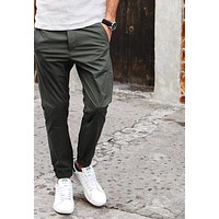 New Arrival Spring Summer Casual Pants Fashion Trousers length Slim Fit