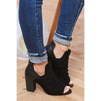 Talk Later Booties (Black)