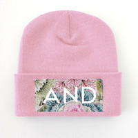 ANDCLOTHING — Pastel Coral AND Beanie