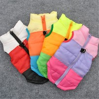 Warm Dog Clothes Pet Coat Vest Harness Puppy Costume Apparel Pet Dog Clothes Jackets Outfit For Dog Chihuahua 15S1
