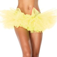 Neon Yellow Organza TuTu : High Quality Rave TuTus and Outfits