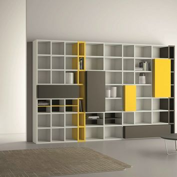 Open lacquered bookcase SPEED 22 Speed Collection by Dall'Agnese   design Imago Design, Massimo Rosa