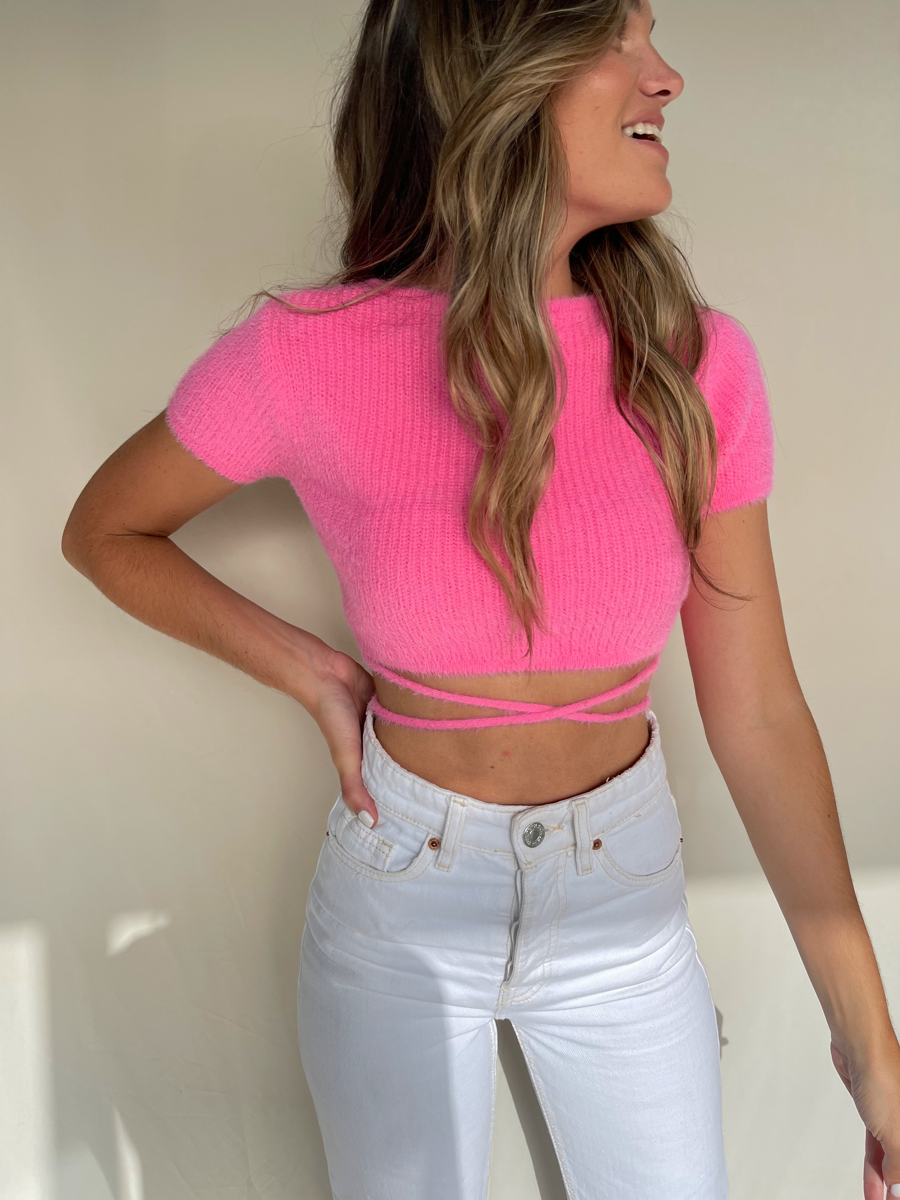 Image of RISETTE KNIT TOP PINK