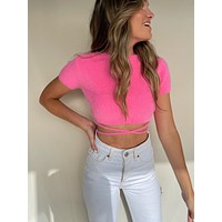 RISETTE KNIT TOP PINK