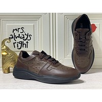 prada men fashion boots fashionable casual leather breathable sneakers running shoes 227