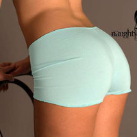 Aqua Blue Boyshorts panties Large in stock by NaughtyNaughty