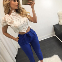 Blusas Femininas 2016 Summer Women Blouse Lace Vintage Sleeveless White Renda Crochet Casual Shirts Tops Plus Size