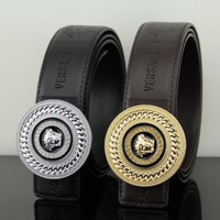 Versace women men medusa belt two color Gold