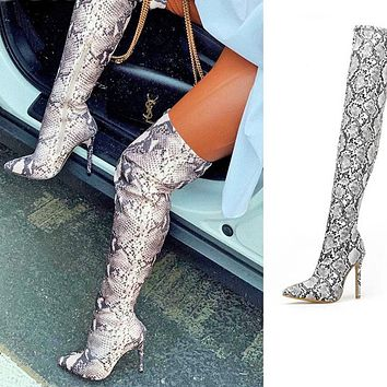 woman shoes pointed toe stiletto over-the-knee boots