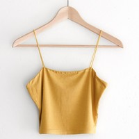 Cropped Cami - Mustard