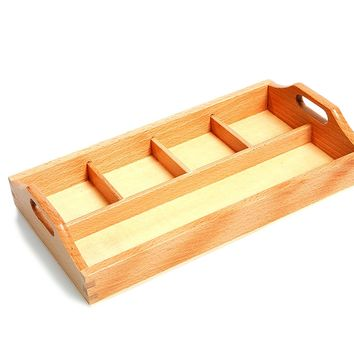 """Attractive 4 Compartment Sorting Tray - SMALL tray with one long section approx. 9"""" x 2 1/8"""" and 4 smaller compartments 2 1/8"""" x 2 1/8"""" approx."""