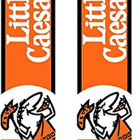 Little Ceaser Hot-N-Ready Large Pizza Two (2) Swooper Feather Flag Kits With Pole And Ground Spike