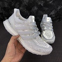 Adidas Ultra Boost 2.0 Limited White Reflective UltraBoost Running Shoes