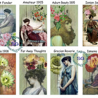 Past Beauty Art - 2x3 inch Gift Tags, Jewelry Earrings Card Holders, Wedding Projects, Arts & Crafts