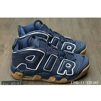 Nike Air More Uptempo men and women tide brand fashion shoes F-HAOXIE-ADXJ Blue