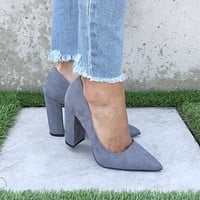 Work It Heels in Steel Grey